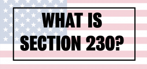 US Flag What is Section 230?